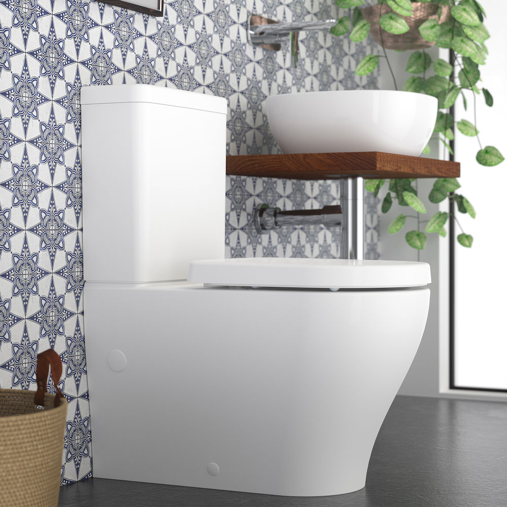 18265 Caroma Coolibah Luna Wall Faced Toilet Suite 829710w Ls 53643